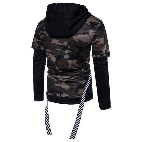 CN Army / S Mens Fashion Camouflage Hoodies Patchwork Design