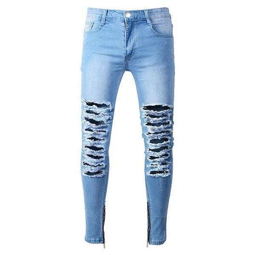 CN As Picture / 30 Skinny Zipper Cuff Jeans
