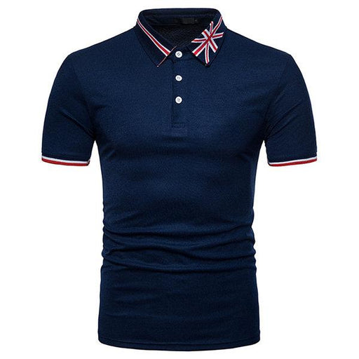 Western Style Slim Fit Printed Casual Golf Shirt