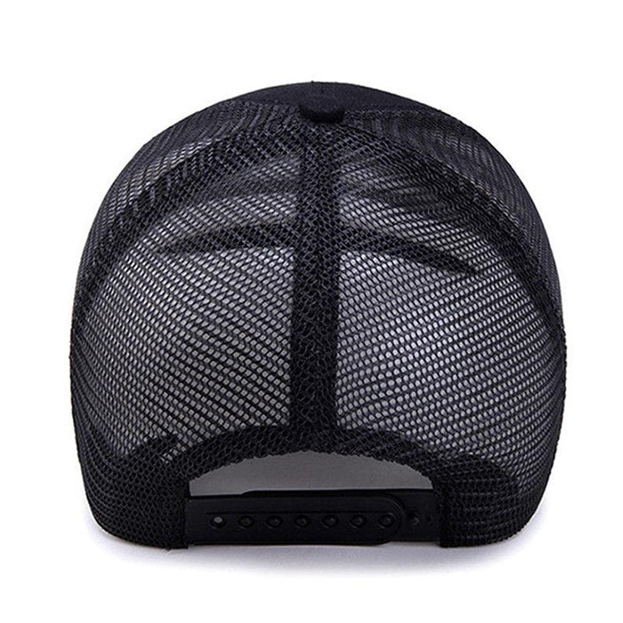 Super Wide Brim Solid Retro Mesh Baseball Cap