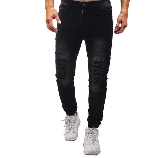 CN Black / 30 Men Hole Elastic Jean