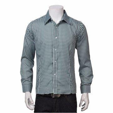 CN Black / L Slim Fit Plaid Shirt