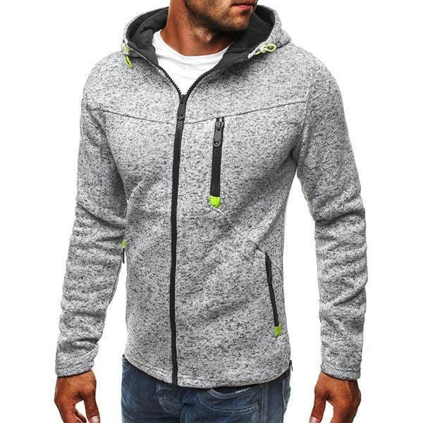 CN Black / M Mens Fashion Casual Solid Thicken Zip Up Hoodie