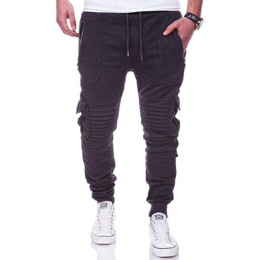 CN Bottoms Black / M Solid Color Drawstring Running Pants
