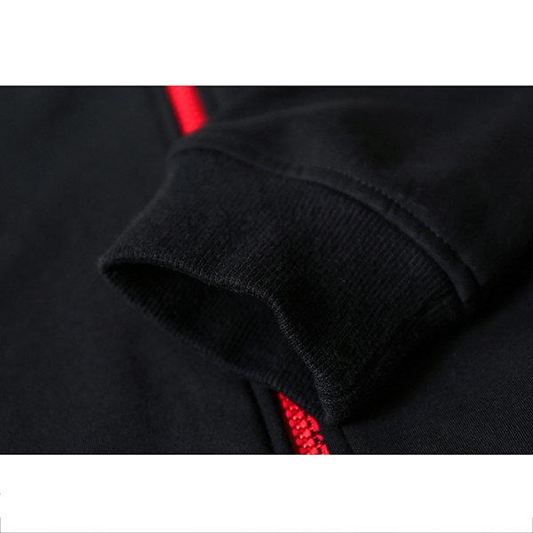 Stitching Color Zip Up Hoodies