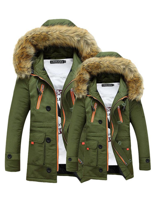 CN Coats & Jackets Green / S Hooded Thicken Winter Coats