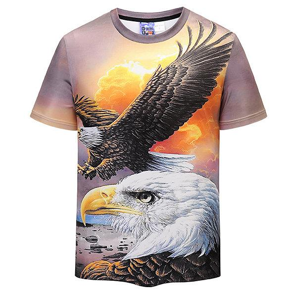 Unique 3D Eagle Printed Casual T-shirt