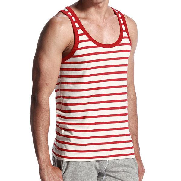 Striped Sleeveless Casual Tank Tops