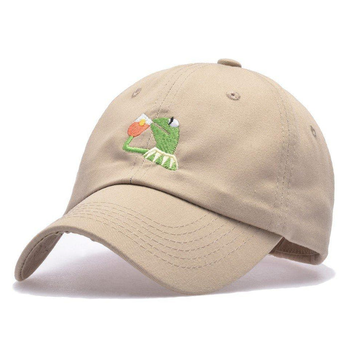 Women Cotton Breathable Embroidered Frogs Baseball Cap Casual Visor Snapback Hip Hop Hat