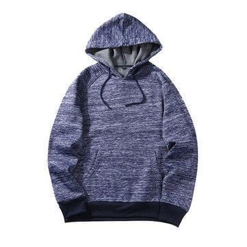 CN Dark Gray / S Mens Solid Color Hoodies