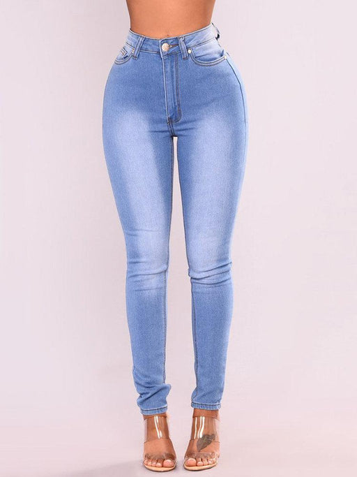 CN Denim & Jeans Sky Blue / S High Waist Skinny Stretch Denim