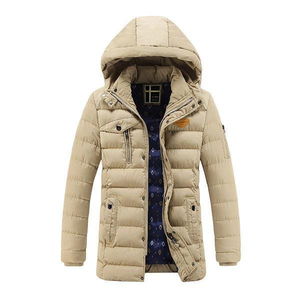 CN Down & Parkas Black / L Mid Long Cotton Padded Coat