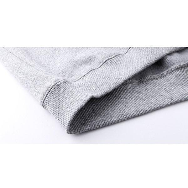 CN Gray / M Polar Fleece Lining Sweatshirt