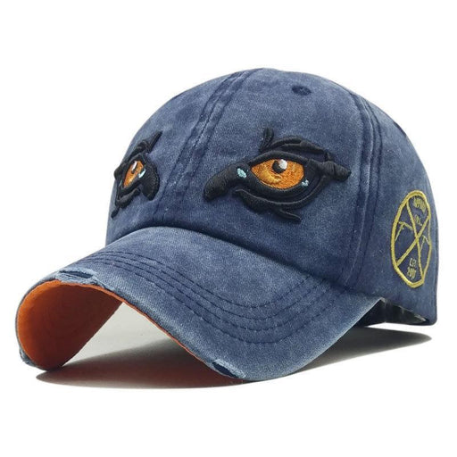 NewChick Hats & Caps Black Embroidery Eagle Eyes Baseball Cap