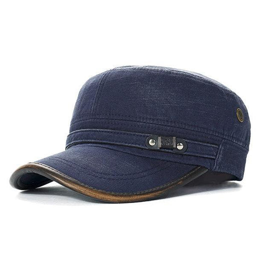 NewChick Hats & Caps Blue Cotton Outdoors Solid Sunshade Baseball Cap