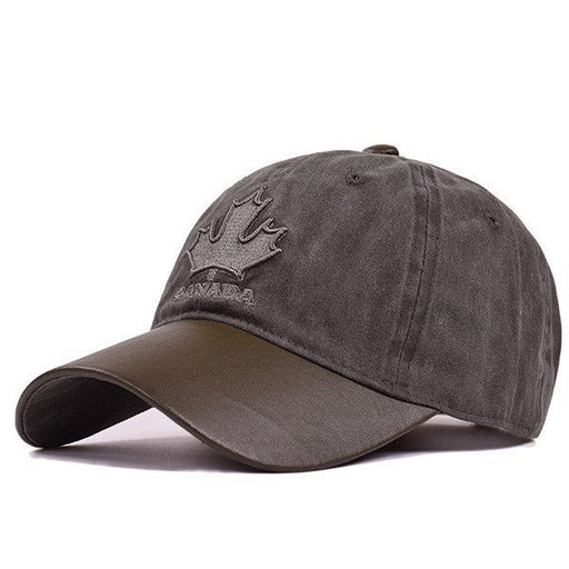 NewChick Hats & Caps Khaki Cotton Vintage Maple leaves Baseball Cap