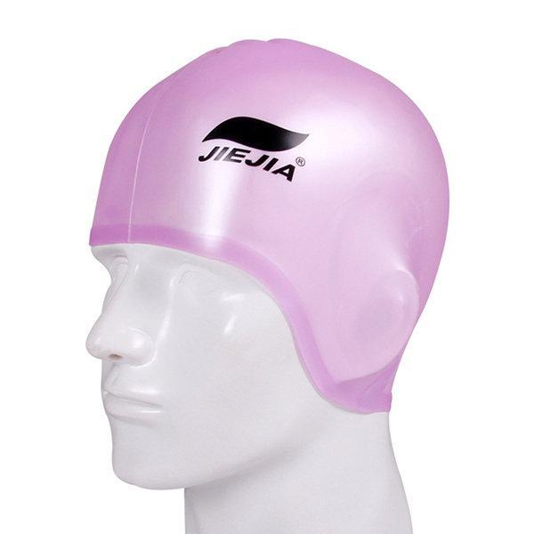 NewChick Hats & Caps Pink Silicone Ear Protection Swimming Hat