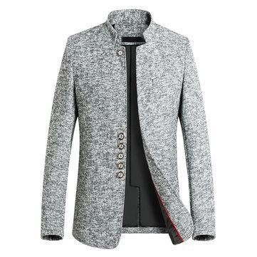 CN Jacket Gray / XL Business Casual Single-breasted Trench Coat