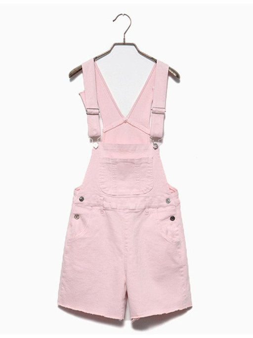 CN Jumpsuits & Rompers White / S Solid Color Short Jumpsuits