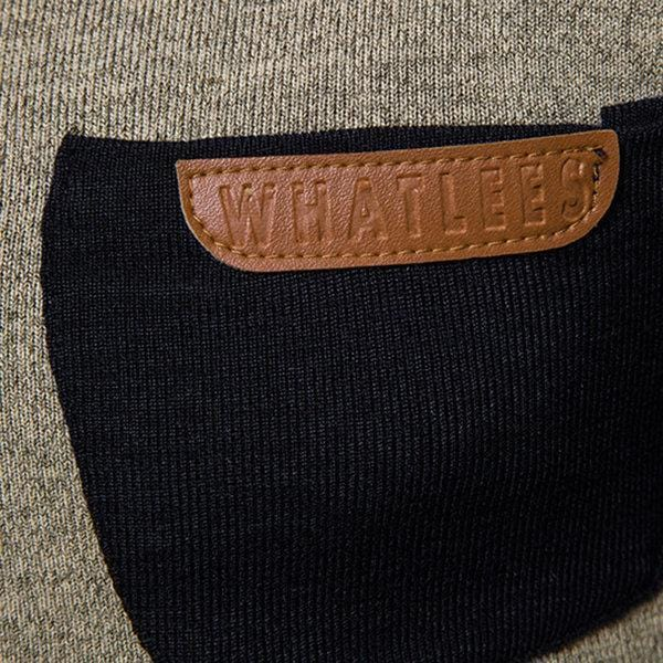 CN Khaki / S Slim Fit Casual Knitted Sweater