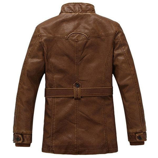 CN Leather & Suede Brown / L Motorcycle Biker PU Leather Jackets