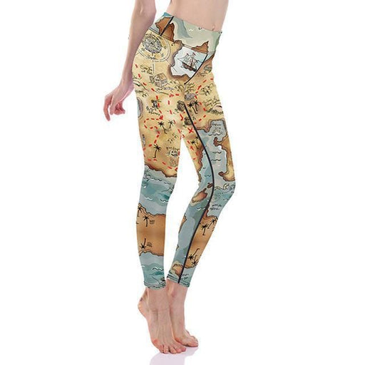 RealBigBuy Leggings Map Design / S Sexy Girl Pencil Leggings Slim Fit