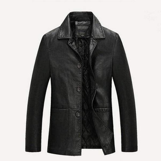 Loose Soft Faux Leather Jacket