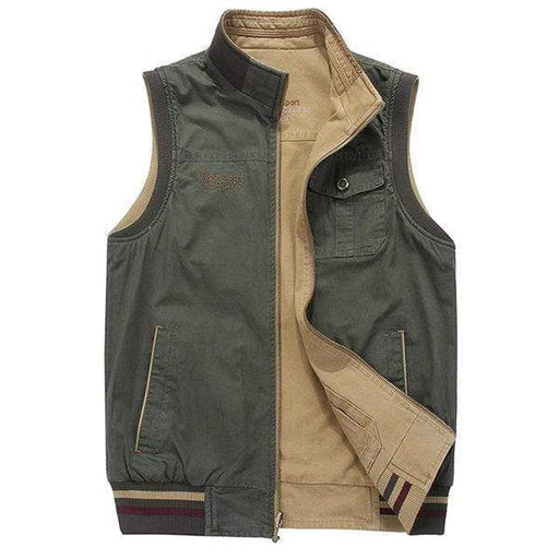 Men's Double Sided Plus Size Fishing Vest