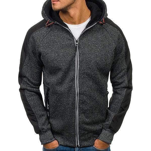 Men's Fashion Casual Long Sleeve Zip Up Hoodie