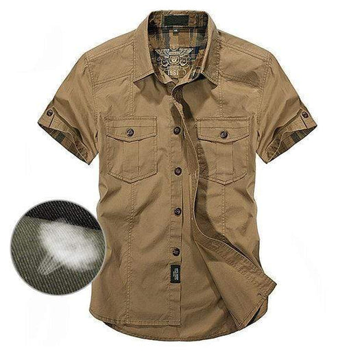 Men's Short Sleeve Button Down Cargo Shirt