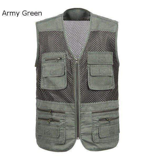 Mens Breathable Mesh Multifunctional Waistcoasts Quick Dry Outdoor Fishing Sleeveless Vests