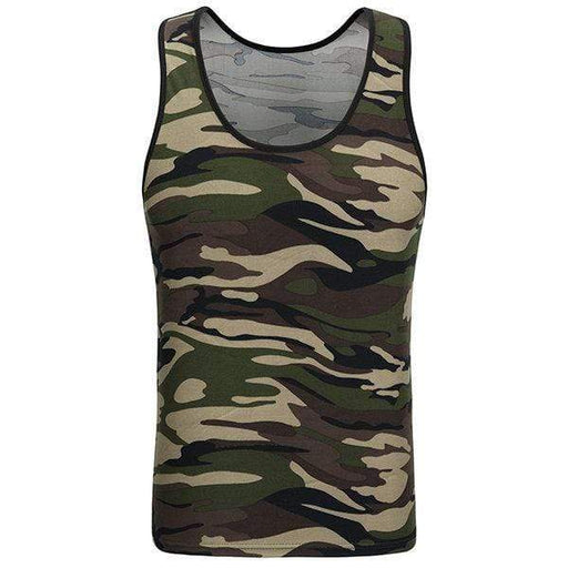 Mens Camouflage Sleeveless Skinny Fit Vest Fitness Training Jogging Sport Tank Tops