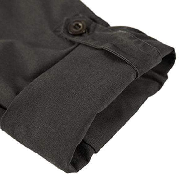 Mens Folded Sleeves Work Shirt