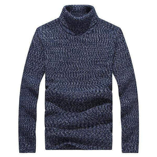 Mens High Neck Knitted Sweater