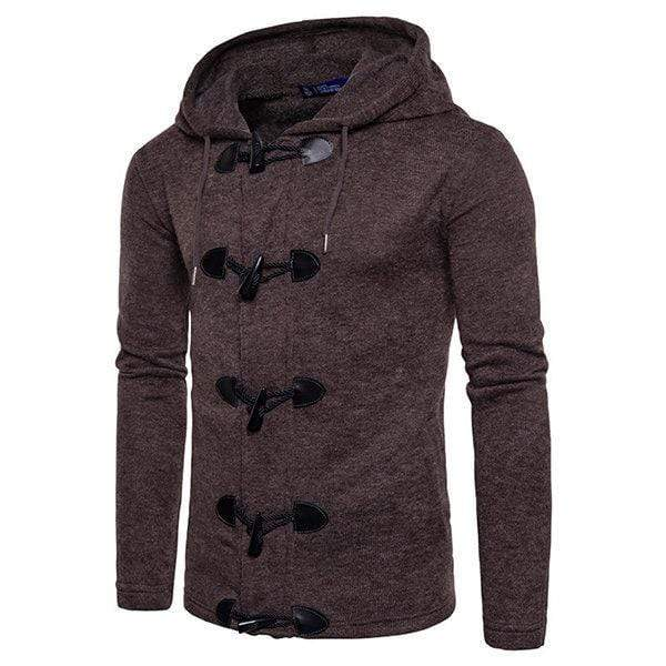 Mens Horns Button Knit Casual Cardigans