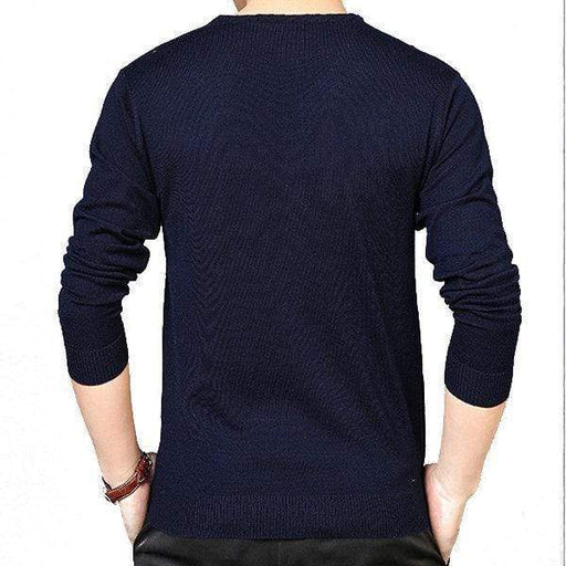 Mens Jacquard Casual Knit Sweater