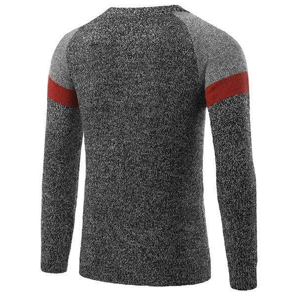 Mens Knitted Hit Color Cotton Sweaters