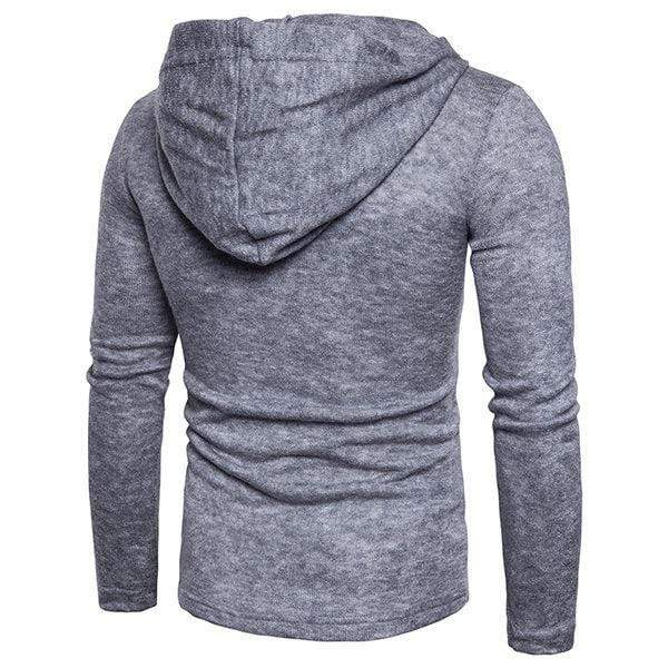 Mens Knitting Hooded Casual T-Shirts
