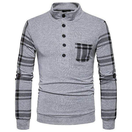 Mens Lattice Design Warm Knitted Sweater