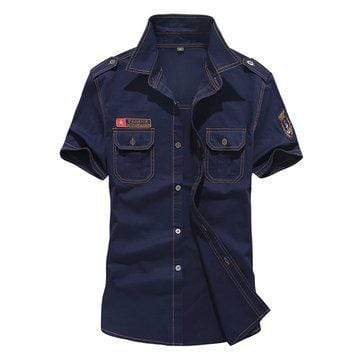 Military Design Pocket Cotton Shirts
