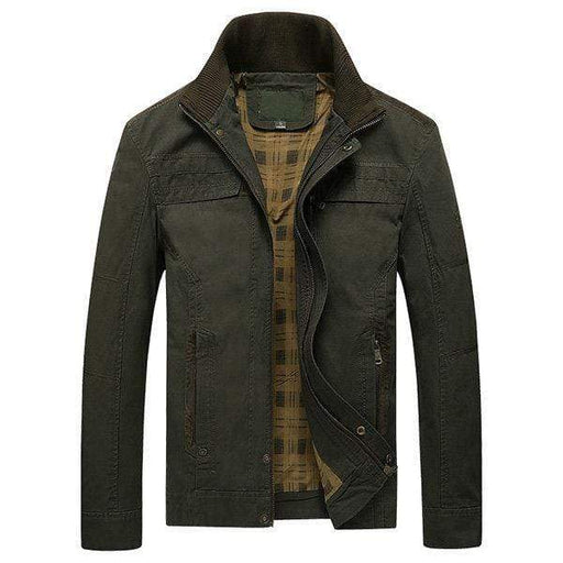 Military Style Solid Color Jacket For Men