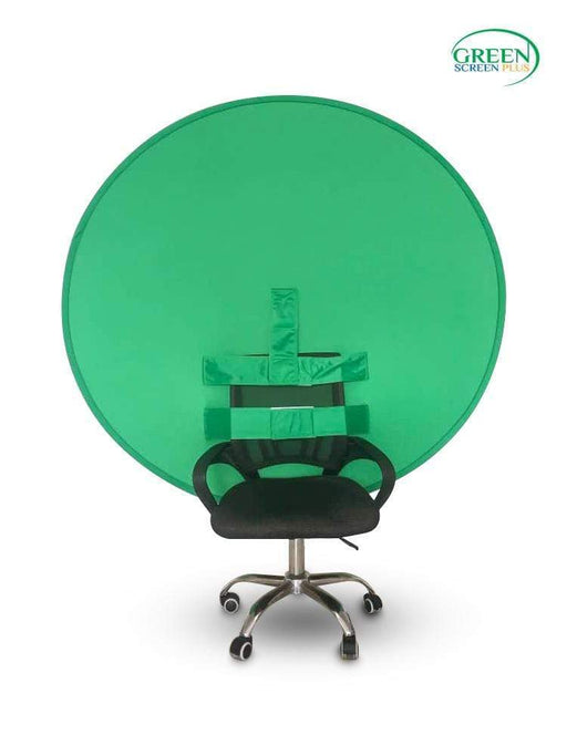 O-Shape Collapsible Green Screen Backdrop Background For Chair By GreenScreenPlus
