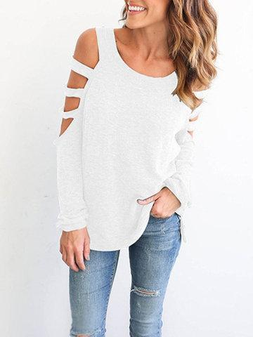 Off Shoulder Hollow Sexy T-Shirts