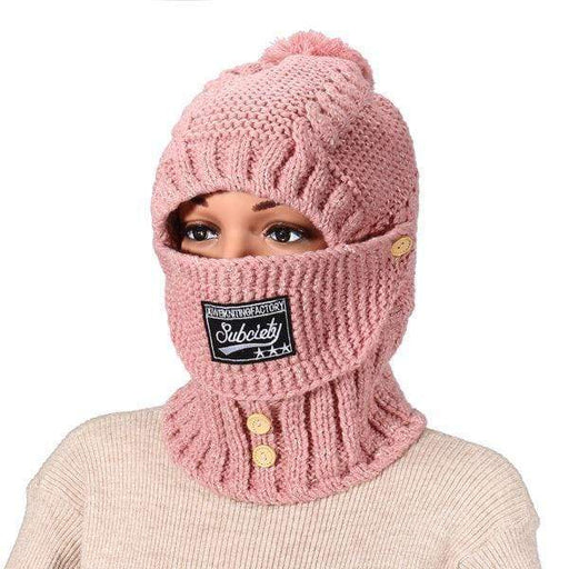 Outdoor Riding Warm Masks Knitted Hat Scarf Set