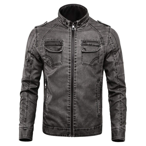 Outdoor Thicken Fleece Pu Leather Jacket