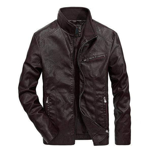Plus Size Biker Pu Leather Jackets