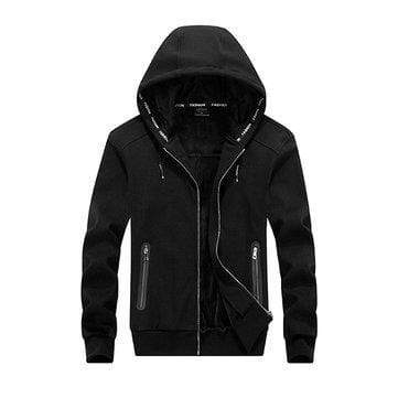 Plus Size Zip Up Casual Jacket