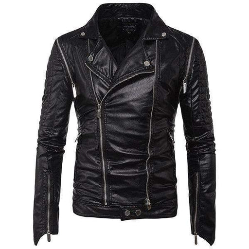 Pockets Faux Leather Jacket