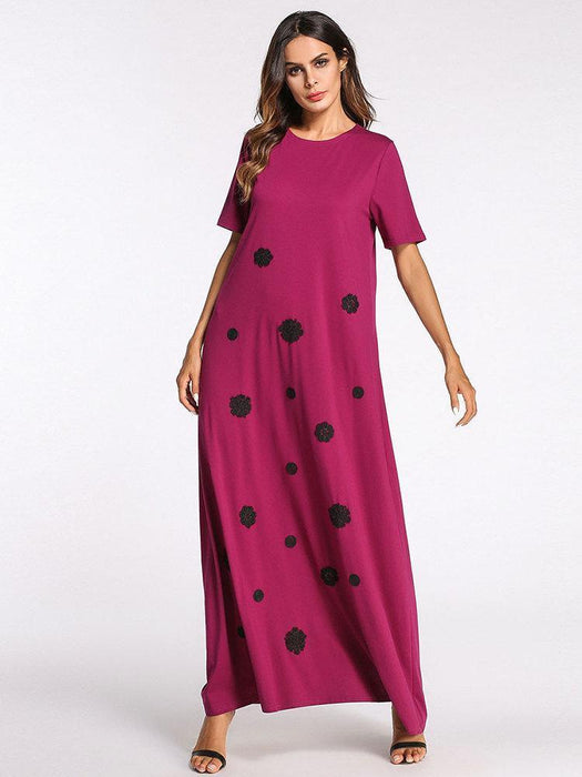 Polka Dot Robe Maxi Dresses