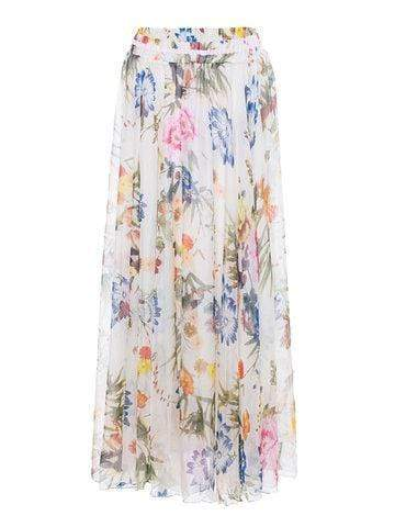 Print Chiffon Long Skirts